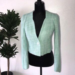 Mint Tweed Jacket Blazer